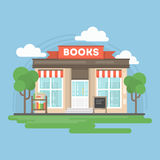 Edificio de librería ilustración del vector