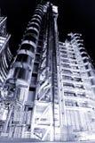 Edificio de Lloys en la noche Imagenes de archivo