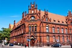 Edificio de los posts de Grudziadz Polonia Foto de archivo libre de regalías