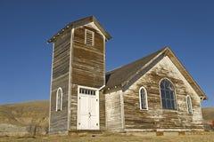 Edificio de madera abandonado en los badlands Foto de archivo