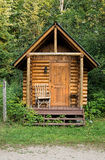 Edificio de madera de la sauna Foto de archivo