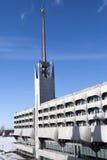 Edificio de Marine Station Sea Port en puerto en St Petersburg, Rusia Fotos de archivo libres de regalías
