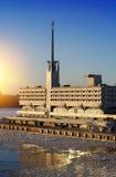 Edificio de Marine Station Sea Port en puerto en St Petersburg, Rusia Fotos de archivo