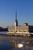 Edificio de Marine Station Sea Port en puerto en St Petersburg, Rusia Fotografía de archivo libre de regalías