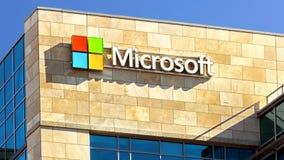Edificio de Microsoft almacen de metraje de vídeo