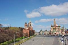 Edificio de Moscú Kremlin en el área roja Fotos de archivo