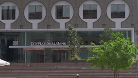 Edificio de National Bank de la ciudad en Los Angeles céntrico - California, los E.E.U.U. - 18 de marzo de 2019 almacen de video