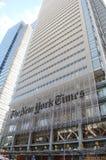 Edificio de New York Times Imágenes de archivo libres de regalías