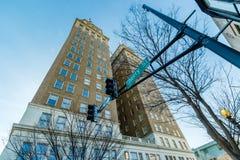 Edificio de Nissen en Winston-Salem céntrica, Carolina del Norte Imagen de archivo