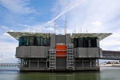 Edificio de Oceanarium en parque de las naciones en Lisboa. Imagen de archivo