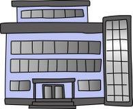 Edificio de oficinas stock de ilustración