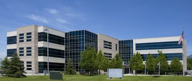 Edificio de oficinas americano Fotografía de archivo