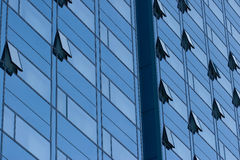 Edificio de oficinas azul Fotografía de archivo