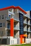 Edificio de oficinas colorido Imágenes de archivo libres de regalías