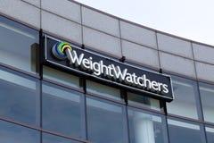 Edificio de oficinas corporativo de los vigilantes del peso Imágenes de archivo libres de regalías
