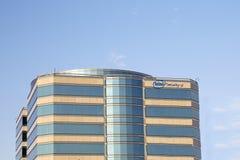 Edificio de oficinas de seguridad de Intel fotografía de archivo libre de regalías
