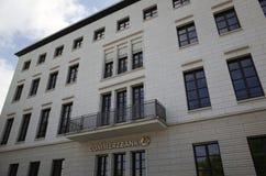 Edificio de oficinas del banco de Commerz en Berlín, Alemania Fotografía de archivo