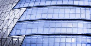 Edificio de oficinas futurista Fotografía de archivo