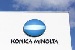 Edificio de oficinas de Konica Minolta Fotografía de archivo libre de regalías