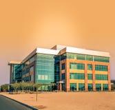 Edificio de oficinas moderno corporativo alterado estilizado fotografía de archivo libre de regalías