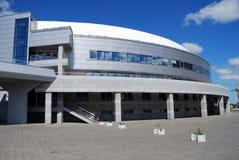 Edificio de oficinas redondo moderno Fotos de archivo
