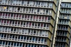 Edificio de oficinas retro del centro urbano Imágenes de archivo libres de regalías