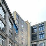 Edificio de oficinas viejo Fotografía de archivo