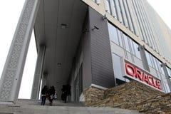 Edificio de Oracle, en Bucarest, Rumania Imágenes de archivo libres de regalías