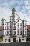 Edificio de Parlement en memmingen Imagen de archivo