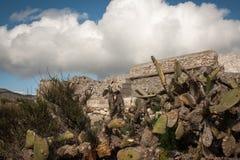 Edificio de piedra del abandono Imagen de archivo libre de regalías