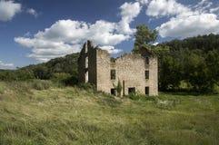 Edificio de piedra del abandono Fotos de archivo