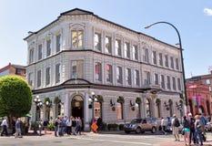 Edificio de Pub del bardo y del banquero, Victoria, A.C., Canadá Foto de archivo