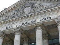 Edificio de Reichstag Imágenes de archivo libres de regalías