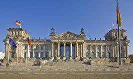 Edificio de Reichstag en Berlín Imagen de archivo libre de regalías