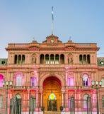 Edificio de Rosada de la casa en Buenos Aires, la Argentina Fotografía de archivo