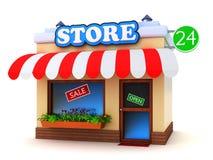 Edificio de tienda stock de ilustración