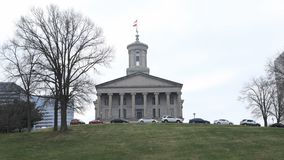 Edificio de Timelapse Tennessee State Capitol en Nashville 4K