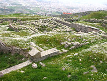 Acrópolis de Pérgamo en Turquía Imagen de archivo libre de regalías