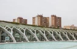 Edificio de Umbracle en la ciudad de los artes y de la ciencia, Valencia, balneario fotos de archivo libres de regalías