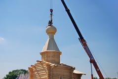 Edificio de una iglesia en un día en el parque de Tsaritsyno Imágenes de archivo libres de regalías