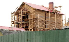 Edificio de una nueva casa Foto de archivo