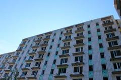 Edificio de varios pisos abandonado en Ucrania Imágenes de archivo libres de regalías