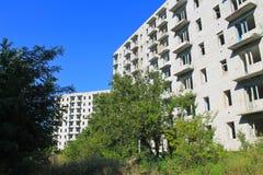 Edificio de varios pisos abandonado en Ucrania Fotografía de archivo libre de regalías
