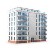 Edificio de varios pisos Nuevo edificio residencial moderno stock de ilustración