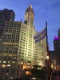 Edificio de Wrigley, Chicago fotografía de archivo
