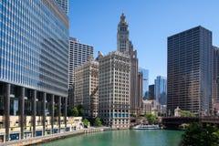 Edificio de Wrigley en Chicago Imagen de archivo libre de regalías
