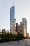 Edificio de Wrigley y torre Chicago del triunfo Fotografía de archivo libre de regalías