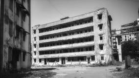 Edificio del abandono Imagen de archivo libre de regalías