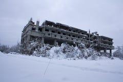 Edificio del abandono Fotos de archivo