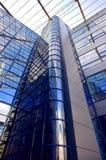 Edificio del asunto en fondo del cielo azul Fotografía de archivo libre de regalías